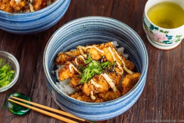 Karaage Rice Bowl 中華風唐揚げ丼 Just One Cookbook Receta