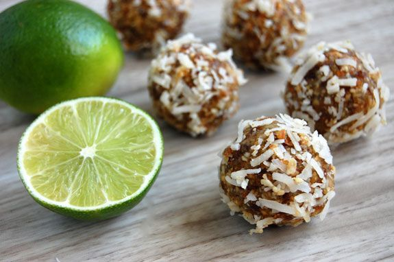 Coconut Lime Energy Bites - Paleo Grubs