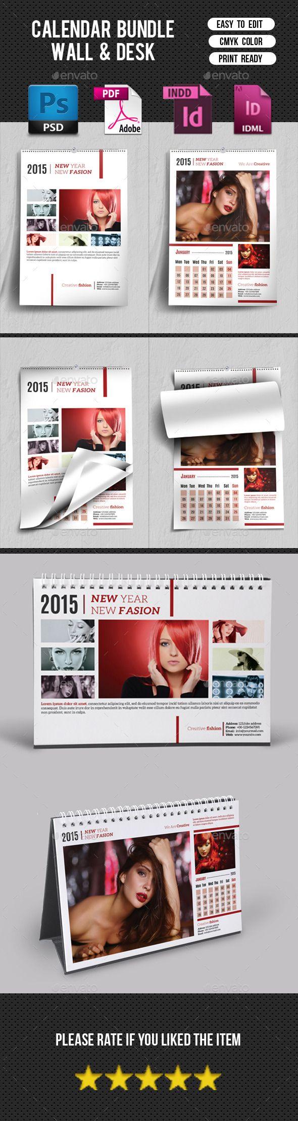Wall & Desk Calendar Bundle Template | Download: http://graphicriver.net/item/wall-desk-calendar-bundlev01/9918990?ref=ksioks