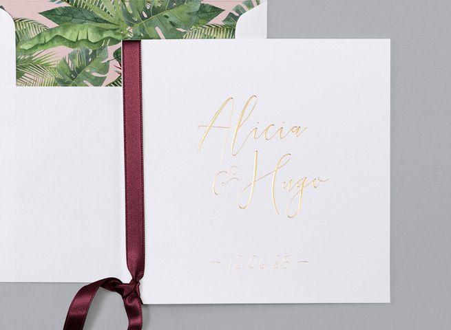 Victory  Diese Hochzeitskarte vereint reines Wei mit