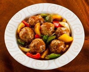 Paleo meatballs with sweet and sour sauce