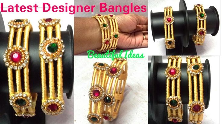 How to make Silk thread Fancy  Bangles.Silk thread Latest Designer Bangles making at Home.