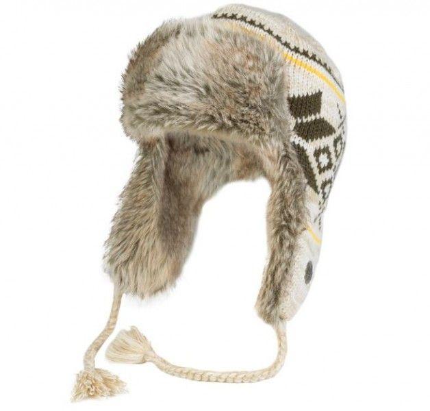 Gestrickte Wintermütze mit Fell, beige/braun/gelb Der wahre Hingucker. Diese gestrickte Pelzmütze sieht nicht nur toll aus, sondern gibt dank dem Kunstfell auch sehr warm. Für den...
