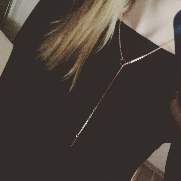 Necklace. Naszyjnik celebrytka. Krawatka. Biżuteria. Jewelry.
