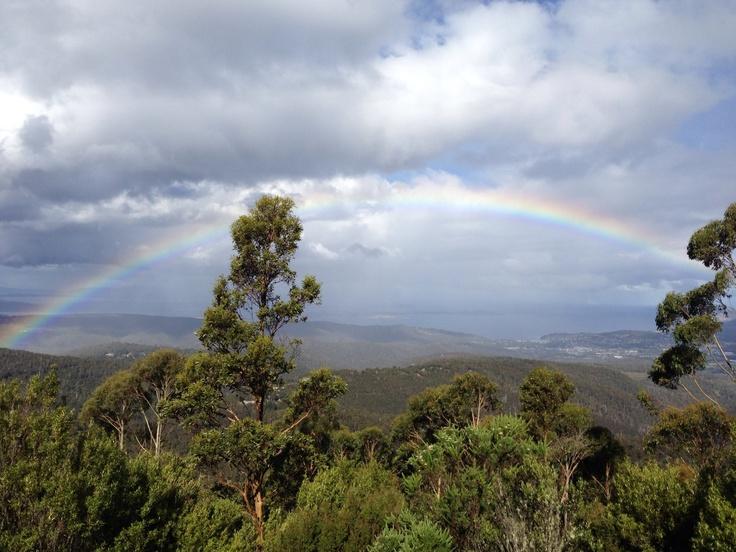 Upwards to MT Wellington, Tasmania a beautiful rainbow #rainbows #Tasmania #Mt Wellington