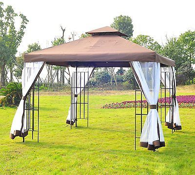 #Garden Gazebo Tent Outdoor Wedding Camping #cover #shelter Poolside Canopy  3x3 M,