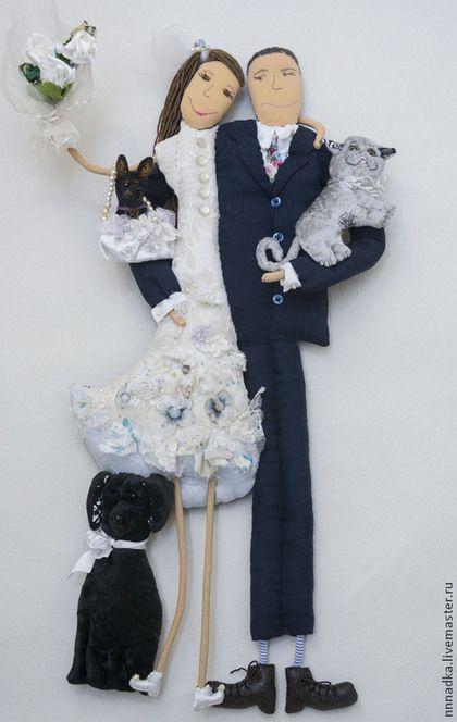 Подарки на свадьбу ручной работы. just married. Бурдакова Надя. Ярмарка Мастеров. Подарок, кукла текстильная, текстиль