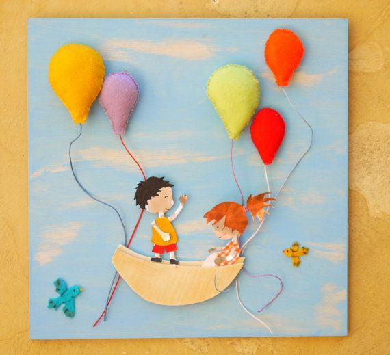 Chilren's Nursery Wall Art Wooden Wall Hanging by FabLabCrafts