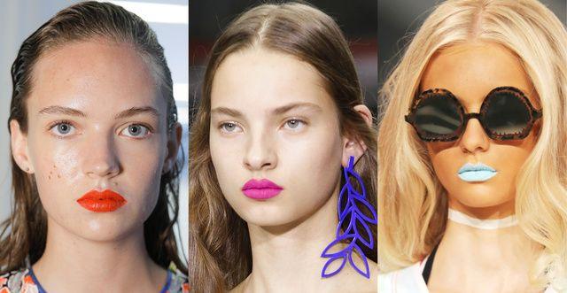 Bouche glitter, regard superstrong , lèvres néon… Tour d'horizon des tendances qui vont nous faire vibrer cette année.