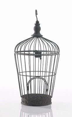 "Pompeii Metal Card Holder Bird Cage - Wedding Decorations 8"" x 16.5"""