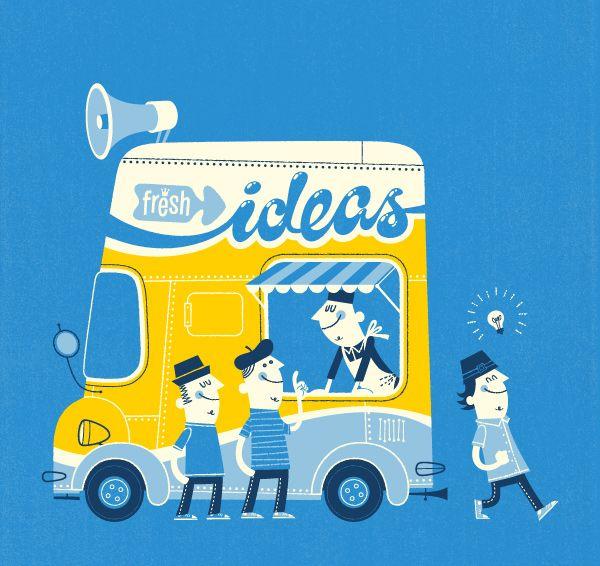 by esther aarts: Illustrations Art, Fresh Ideas, Illustrations Graphics, Aart Illustrations, Ice Cream, Graphics Design Poster, Retro Illustrations, Esther Arch, Estheraart