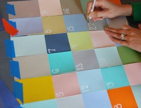 Creative Post-It Calendar Making