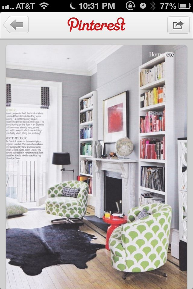 Light grey walls open up a room, very lovely