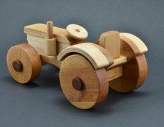 Wooden tractor woodworking, wooden toys, tractor, children's toys, bending, wooden tractor, fenders