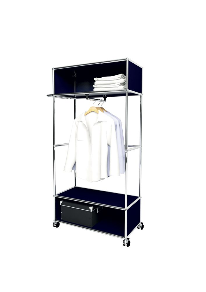 Usm modular furniture wardrobe darck blue meuble usm for Meuble bureau usm