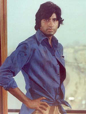 Amitabh bachchan, the angry young man of Hindi Cinema. The shot is from Deewar, 1975 Bachchan's breakthrough was Zanjeer, but the Vijay of that film was angry and sullen; his acting largely focussed around only one emotion: Anger. In Deewar, he assembles the entire orchestra of rage. Deewar's Vijay was defiant, cool, cocky, unreasonable and full of pathos.