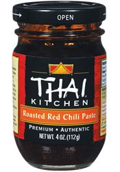 Thai Kitchen - Roasted Red Chili Paste | A concentrated blend of red chilies and Thai spices, combined for a spicy flavor. Use as a stir-fry seasoning, a soup base, or as a condiment for noodles or chicken. Add a teaspoon to your favorite marinades for a bit of spiciness.