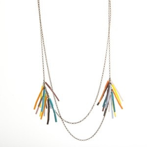 Trimu Tu Necklace. Made out of recycled glass and copper.