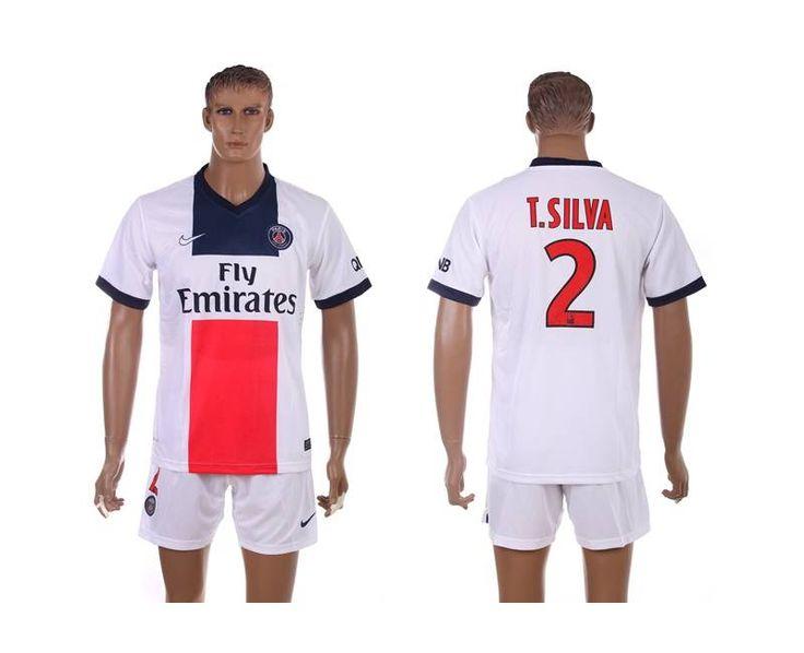 Maillot de Foot PSG (Thiago Silva 2) Exterieur Nike Collection 2013 2014 blanc Pas Cher http://www.korsel.net/maillot-de-foot-psg-thiago-silva-2-exterieur-nike-collection-2013-2014-blanc-pas-cher-p-2896.html