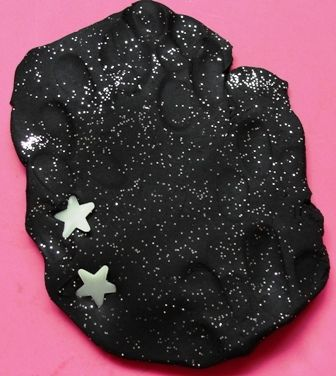 Starry night glow-in-the-dark play dough....just need a black light!