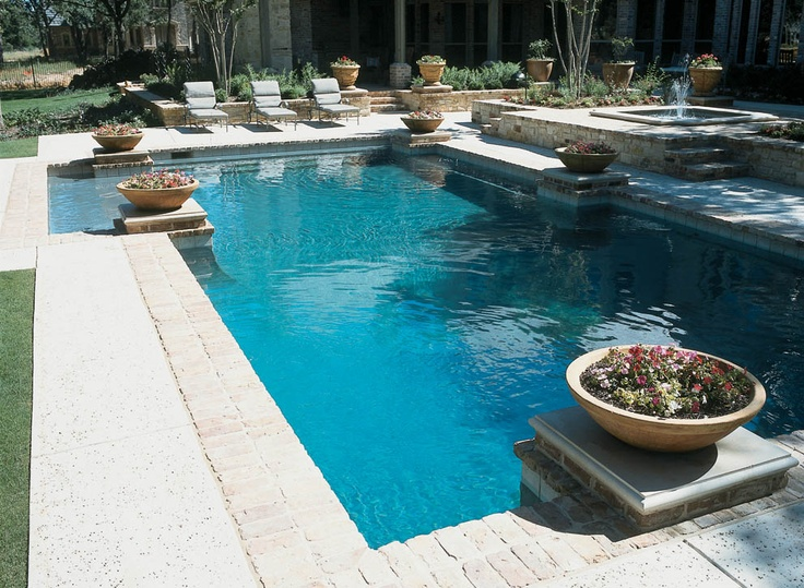 Elegance And Refinement Define Our Straight Line Pools. Great For Limited  Space Backyards And For