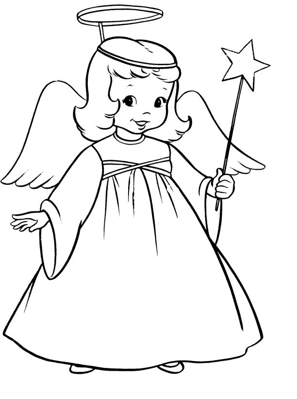 Best collection of printable coloring pages of angels to for Angel coloring pages print out