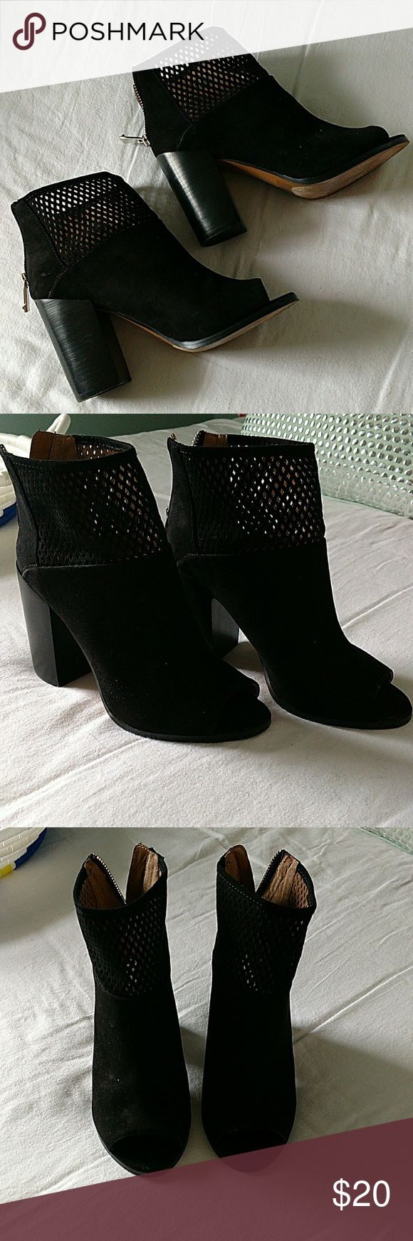 Peep toe booties Never worn,  excellent condition Report Shoes Ankle Boots & Booties