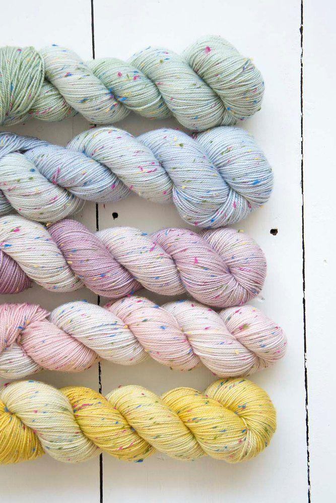Confetti tweed fingering - ombre colors