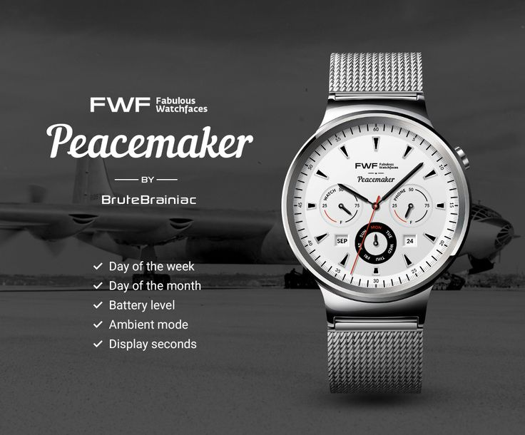Peacemaker watch face by BruteBrainiac / #fwf #fabulouswatchfaces #androidwear #moto360 #huaweiwatch #tagheuer #huaweiwatch #smartwatch #watchface