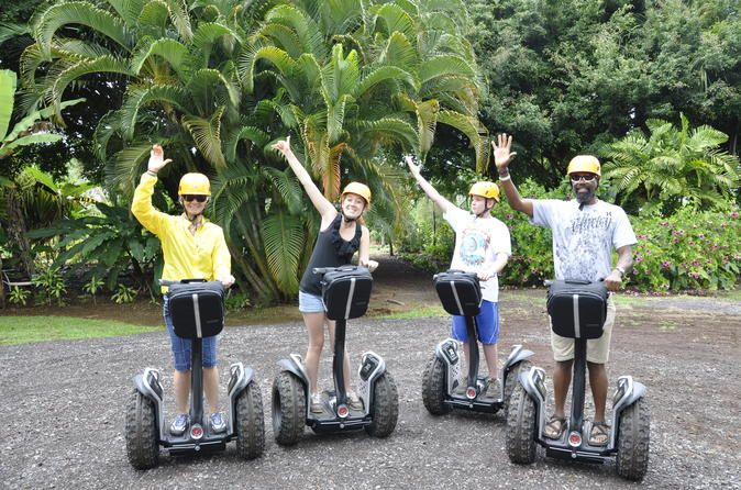 Segway Aloha Intro Tour  Aloha Intro Tour (30 Minutes - Rating: EASY)Experience the fun of gliding on a Segway PT (personal transporter) gliding into tomorrow... today! This Segway Authorized Tour is an experience you must have when you visit our gardens. On this 30 minute glide your certified guide will teach you how to ride a Segway and offer a brief 'taste' of our rainforest.Segway in the Gardens is such a cool experience. When you Segway you know you are having fun, and w...
