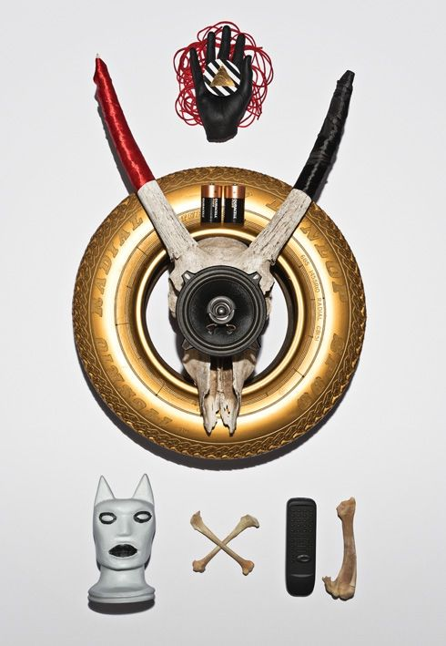 """Richard Hart's """"Night and Light and Neverness"""" exhibition looks into African rituals, magic and mysticism. Fetish Assembly (Weight of Light). Assemblage."""