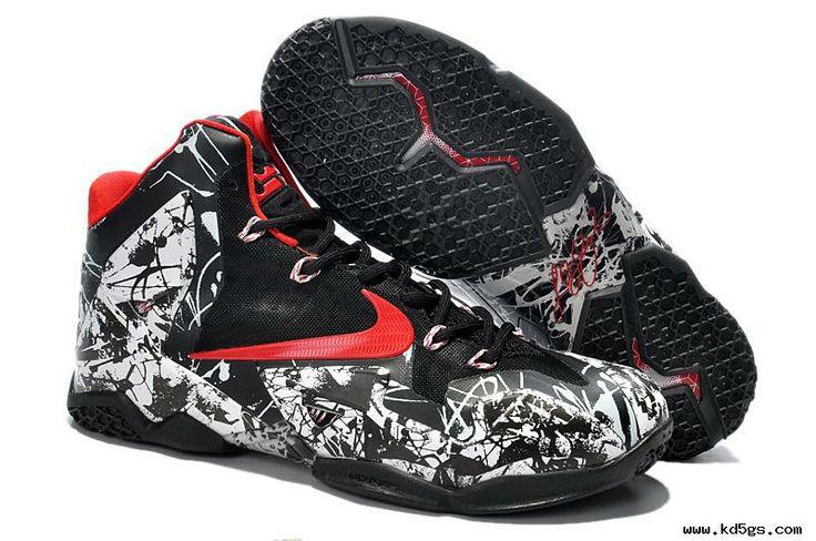 White/Black/Red Nike LeBron 11 Graffiti | KD V | Pinterest
