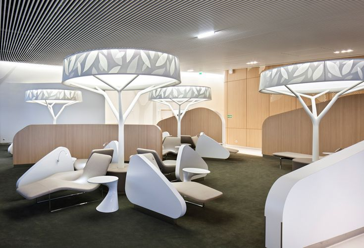Air France Business Lounge at Charles de Gaulle airport by NOE DUCHAUFOUR LAWRANCE - Designer / Architecte d'intérieur....