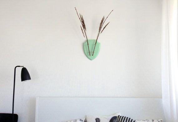 Mint houten hoofd van de herten Home Wall Decor door EcoDeer