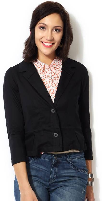 70c36a578 Honey By Pantaloons Solid Women s Jacket