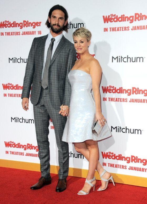 Kaley Cuoco-Sweeting and Ryan Sweeting at event of The Wedding Ringer (2015)