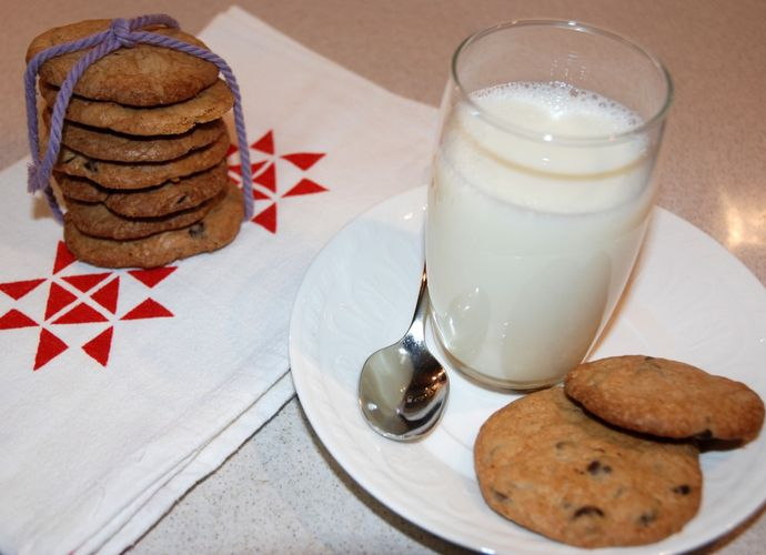Cookies con chips de chocolate para #Mycook http://www.mycook.es/receta/cookies-con-chips-de-chocolate