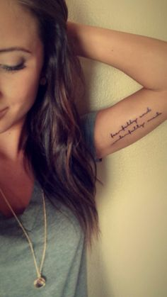 Placement: underside of arm tattoo writing - Google Search