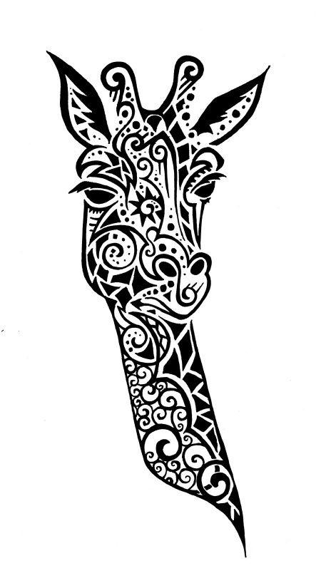 Giraffe Stencil - pretty