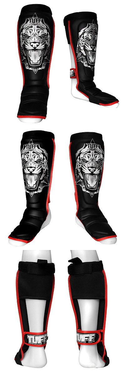 Shin Guards 179782: Muay Thai Mma Tuff Boxing Hybrid Shinguards Tiger Black Tuf-Sg-Tiger-Blk -> BUY IT NOW ONLY: $71.99 on eBay!