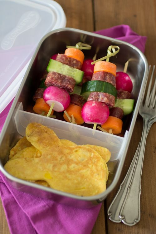 Paleo Lunch - Spiesjes met omelet
