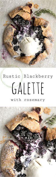 Rustic Blackberry Ga Rustic Blackberry Galette with Rosemary Recipe : http://ift.tt/1hGiZgA And @ItsNutella  http://ift.tt/2v8iUYW