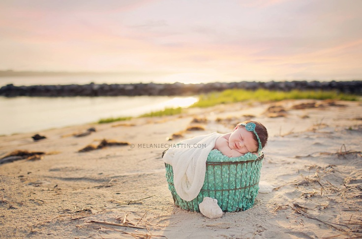 Melanie Chattin Photography beach newborn