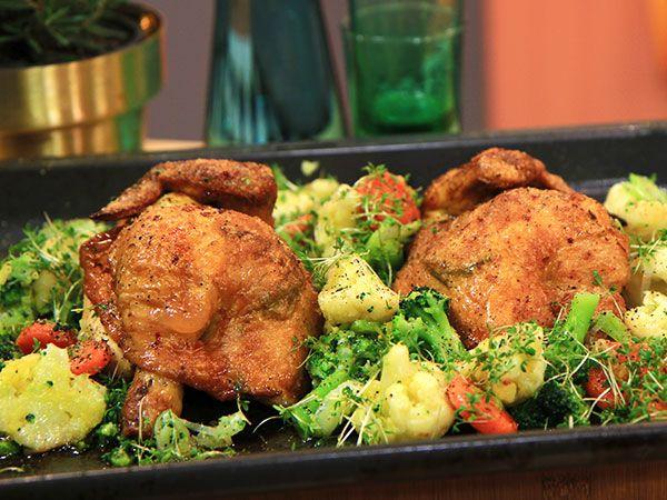 Ugnsbakad kyckling med rosmarin | Recept.nu