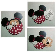 Invitación mimi sólo frente - invitacion minnie mouse