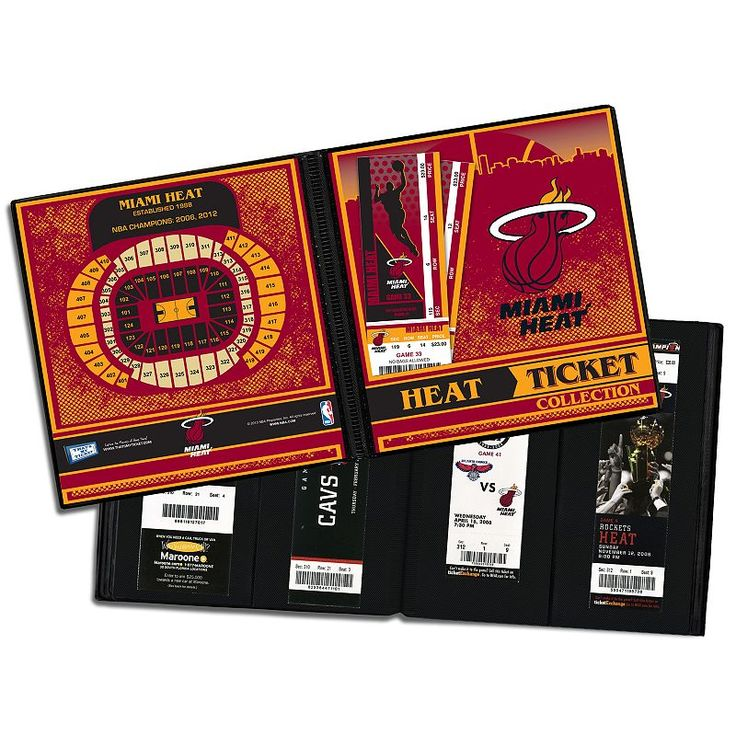 Miami Heat Ticket Album, Multicolor