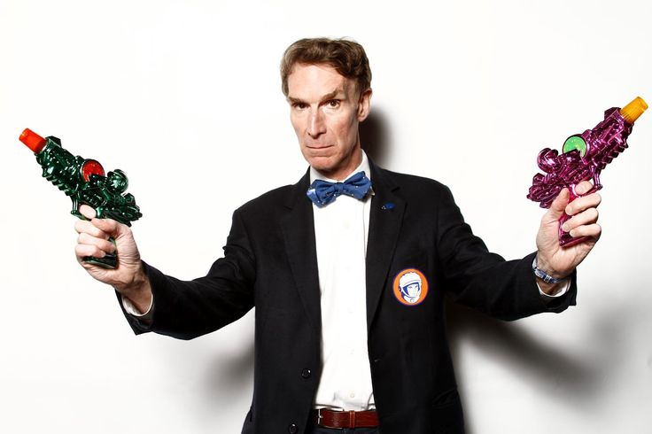 "Bill Nye Educator William Sanford ""Bill"" Nye, popularly known as Bill Nye the Science Guy, is an American science educator, television presenter, and mechanical engineer. Wikipedia Born: November 27, 1955 (age 61 years), Washington, D.C. Spouse: Blair Tindall (m. 2006–2006) Books: Undeniable: Evolution and the Science of Creation, More Education: Cornell University (1977), Sidwell Friends School (1973)"