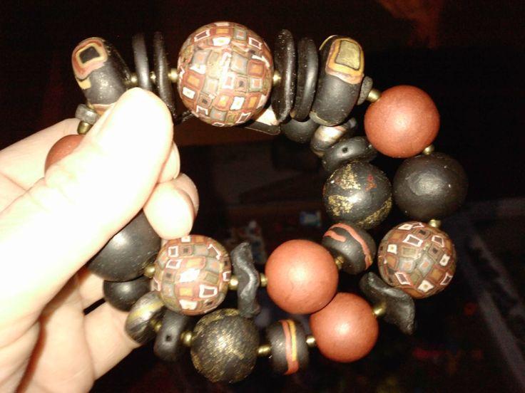 Irena Ryszkiewicz polymer clay necklace