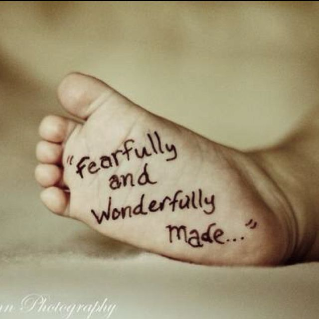 Love- may need a pic like this of baby girl's foot.