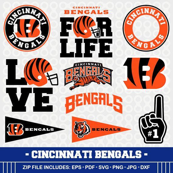 Cincinnati Bengals SVG, Bengals Football, Svg Cameo, DXF File, Cincinnati Bengals, Monogram, Svg Cameo, Cincinnati Bengals Clipart, SVG-12